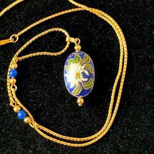 """Vintage Avon Flower Necklace Pendant Gold Tone 18"""""""